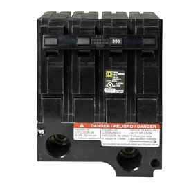 Homeline Plug-on Circuit Breaker HOM2200BB Branch 200 AMP UL (Sqd Breaker)