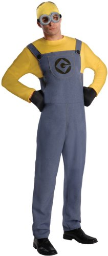 Easy Character Day Costumes (Rubie's Costume Despicable Me 2 Adult Minion Dave, Blue/Yellow, Standard Medium Costume)