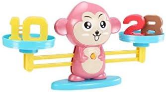 GAIXIA Pequeño Mono Balanza Balanza Escala Digital Suma Y Resta Matemática Juego De Mesa Juguetes para Niños Juguetes educativos para niños: Amazon.es: Hogar