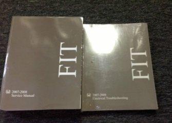 2007 2008 Honda Fit Service Shop Repair Manual Set W Wiring Diagram Ewd Brand Ne Honda Amazon Com Books
