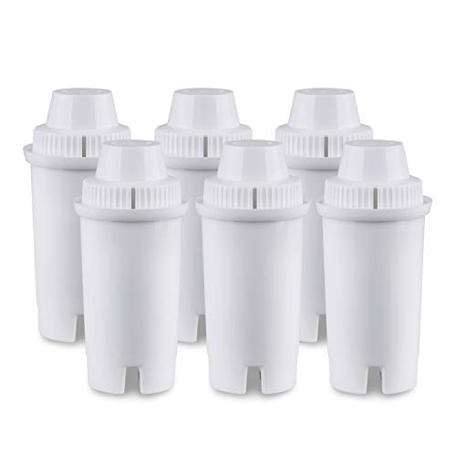 GOLDEN ICEPURE Replacement Pitcher Water Filter,Compatible with Brita Classic Filter,Advanced Filter,Mavea 107007,6 Pack by GOLDEN ICEPURE