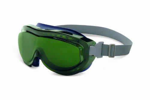 (Uvex S3435X Flex Seal Safety Goggles, Navy Body, Shade 5.0 Infra-Dura Uvextreme Anti-Fog Lens, Neoprene Headband )