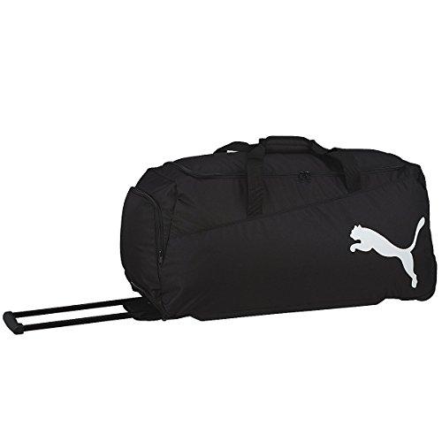 PUMA Sporttasche Pro Training Medium Wheel Bag, black/white, 61 x 6.3 x 31 cm, 54 liter, 072935 01