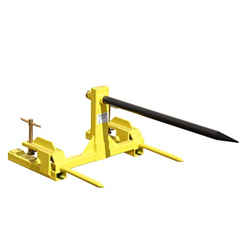 - Titan Clamp on Hay Spear Attachment | Single Spear | 2 Stabilizers