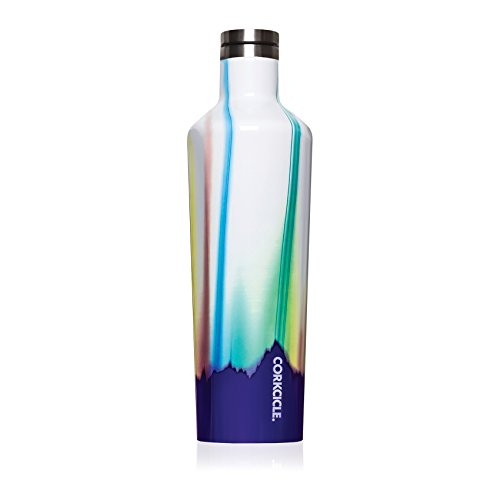 Corkcicle Canteen Classic Collection - Water Bottle & Thermos - Triple Insulated Shatterproof Stainless Steel, Aurora, 25 oz