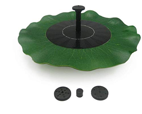 DS.DISTINCTIVE STYLE Ace Select Lotus Leaf Shaped Solar Floating Fountain with Water Pump and Solar Panel, Decor Foloating Pump Pond Garden Outdoor Fountain