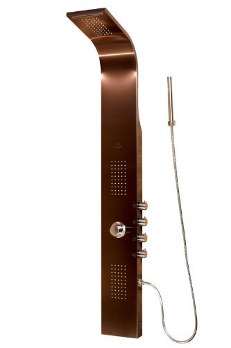 Pulse 1033 Santa Cruz Shower Spa with Brushed Bronze and Chrome Hardware, Brushed Bronze/Chrome by Pulse