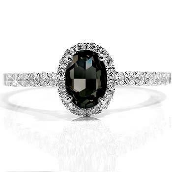 2 44ct Black Diamond Marquise Engagement Ring 14k Gold Amazon Co Uk