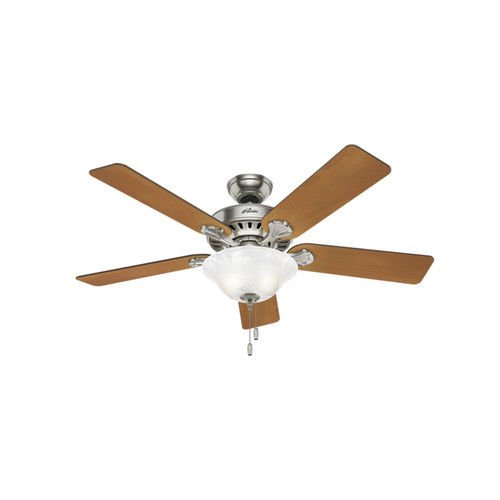 75679e276488 Indoor Brushed Nickel Ceiling Fan with Light Kit