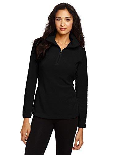 Columbia Women's Glacial Fleece 1/2 Zip Jacket-Black-Medium