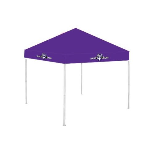 Holy Cross 9 ft x 9 ft Purple Tent 'Official Logo' by CollegeFanGear