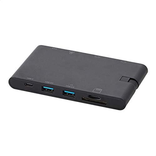 chollos oferta descuentos barato Amazon Basics Estación de acoplamiento tipo C con HDMI VGA Ethernet 2 USB A lector de tarjetas SD TF puerto de datos tipo C 5 Gb s y puerto de carga tipo C PD 100 W ABS negra