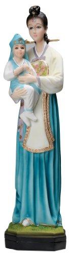 Korean Madonna with Child Statue 16
