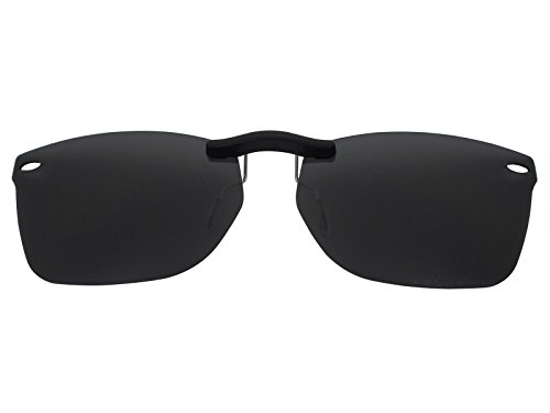 Custom Fit Polarized CLIP-ON Sunglasses For Ray-Ban RB5228 53X17 - Rb5228 On Clip