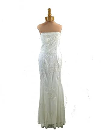 Strapless Evening Dress - Bridal, Wedding, Party, Formal Gown by Sean Collection (1641) Ivory XL