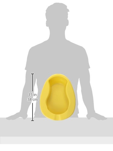 DMI Portable Contoured Plastic Bedpan for Men and Women by MABIS DMI Healthcare (Image #4)