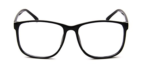 Tantino Wayfarer Eyeglasses Classic Vintage Style (Black Square, - Men Black For Eyeglasses