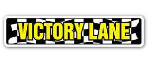 VICTORY LANE Street Sign Decal winner racing car bike running race (Race Car Winner)