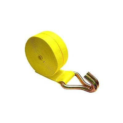 """American Industrial / 4"""" X 30' Winch Strap W/ Wire Hook / 5,400 Lbs. Load Capacity / 16,200 Break Strength"""