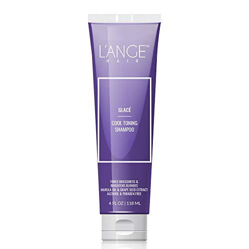 L'ange Hair Glace Cool Toning Shampoo for Blonde or Colored Hair. 4 Oz (Best Shampoo For Blonde Colored Hair)