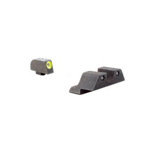 Trijicon GL101Y HD Night Sight Set with Yellow Outline for Glock Pistols