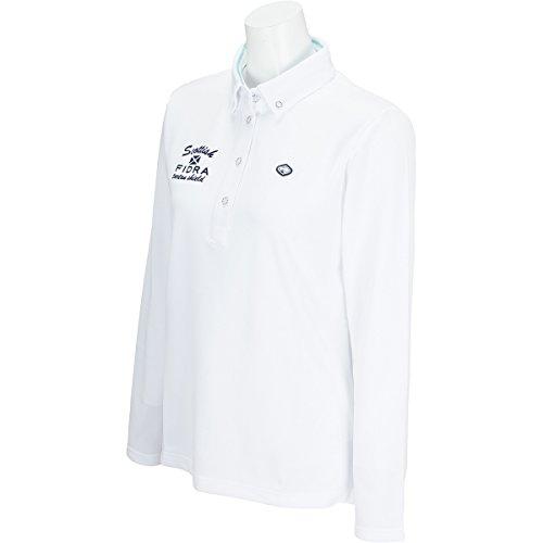 フィドラ FIDRA 長袖シャツ?ポロシャツ 鹿の子長袖ポロシャツ レディス ホワイト M