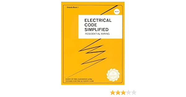 Swell Electrical Code Simplified Residential Wiring Ontario Book 1 P S Wiring Database Pengheclesi4X4Andersnl