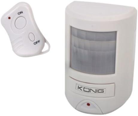 K/önig SEC-APR20 Sensor de infrarrojos Inal/ámbrico Blanco detector de movimiento Sensor de movimiento Sensor de infrarrojos, Inal/ámbrico, 130 dB, AA, Blanco, 105 x 68 x 50 mm