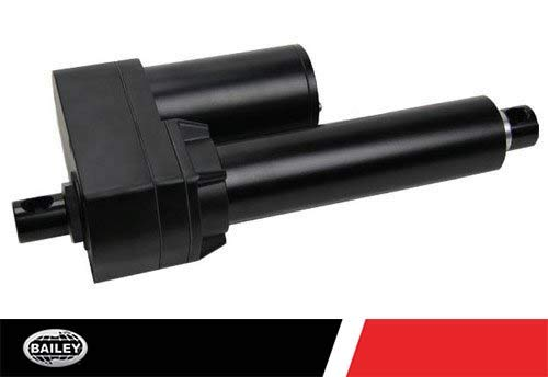 Hydraulic Linear Drive - 12V DC Linear Actuators: 6.03'' Stroke, Acme Drive (ID Series) LACT6-500A: 12.24'' Retract and 18.27'' Extend, 28.6