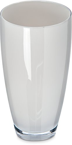 Carlisle EP4002 Epicure Shatter-Resistant Tritan Cased Highball, 22 oz, White (Pack of 12)