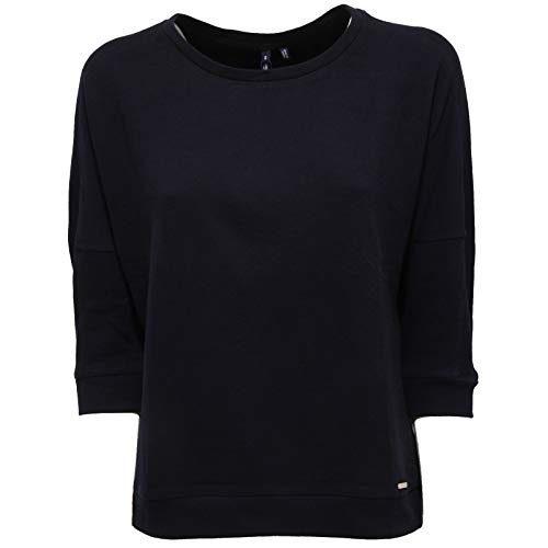 Manica Woman 3 2607x Felpa 4 Sweatshirt Donna Woolrich Blu Blue H4Zvgq