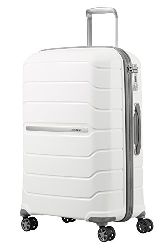 (SAMSONITE Flux - Spinner 68/25 Expandable Hand Luggage, 68 cm, 95 liters, White)