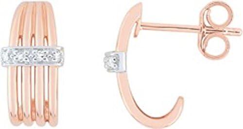 Borg–Pendientes–Oro Bicolor 750/00y diamante–www.diamants.perles.com