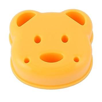 eDealMax plástico la cocina del hogar del oso de cabeza en forma de sándwich de pan