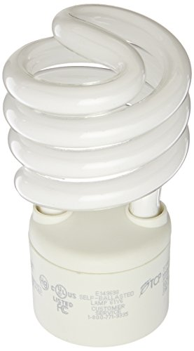 TCP CFL Spring Lamp, 100W Equivalent, Soft/Warm White (3000K) General Purpose Spiral Light Bulb - GU24 (Dimmable Spiral Cfl)