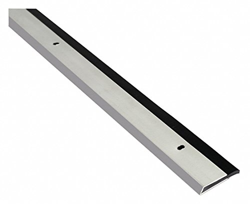 Single Fin Door Sweep, Anodized Aluminum, 4 ft. Length, 1-1/8'' Flange Height, 1/2'' Insert Size by National Guard