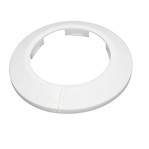 - uxcell 63mm Plastic Wall Flange Radiator Water Pipe Cover Collar White