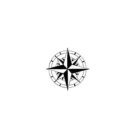 Tatuaje Temporal Tattify - Brújula marina - Estrella del norte (juego de 2): Amazon.es: Belleza