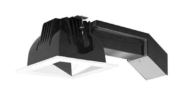 RAB Lighting RDLED4S20-50Y-S-W 20W Square Remodelers with White Trim and Specular Silver Cone 3000 K