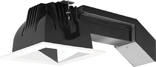 (RAB Lighting RDLED4S20-50YY-S-W 20W Square Remodelers with White Trim and Specular Silver Cone 2700 K)
