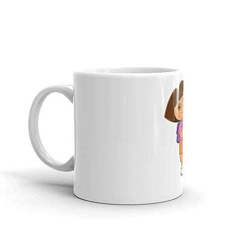 - Dora the Explorer. 11 Oz Mugs Made Of Durable Ceramic With An Easy Grip Handle.This Coffee Mug Has A Hefty But Classic Feel