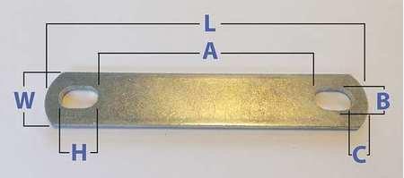 U-Bolt Plate, LCS, Zinc Plated, PK10, (Pack of 10)