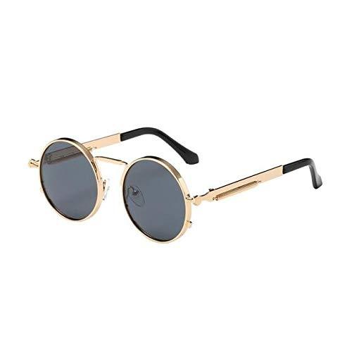 Round Retro Steampunk Men Women Sunglasses (B&e Sonnenbrille)