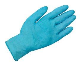 Radnor Glove Disposable Medium 6 Mil Industrial Nitrile Pf 9.5'' Textured Blue Ambidextrous Latex-Free Non-Sterile -1 Case of 10 Boxes - 100 Per Box