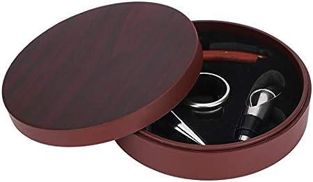 Juego de abridor de botellas de vino, BuyWeek 4 piezas multifunción, duradero, tapón de sacacorchos, juego de caja de regalo para vertedor de vino