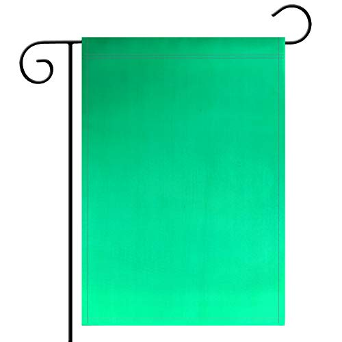 (Garden Flag Pure Solid Green Garden Flag Color Flag, Plain Green Flags,Garden Decoration Flag,Indoor and Outdoor Flags,Party Decoration, Home Decoration, School)