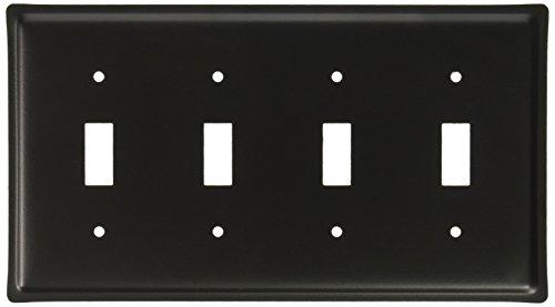 8.25 Inch Plain Quadruple Switch Cover