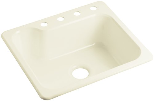 Sterling SC2522SBG-96 Maxeen 25-inch by 22-inch Top-mount Single Bowl Vikrell Kitchen Sink, Biscuit (Maxeen Sink Kitchen)