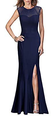 Viwenni Women's Sexy Long Evening Wedding Bodycon Cocktail Party Dress