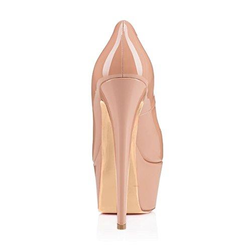 Pompa Delle Alto Di Tacco Party Shoes High Stiletto Fashion Piattaforma Toe Naturale Wedding Donne Della Onlymaker Peep Del On F0qIf5xX